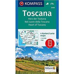 2440. Toscana, Toszkána turista térkép Kompass 1:50 000  2017