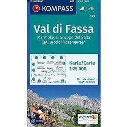 686. Val di Fassa turista térkép Kompass 1:25 000