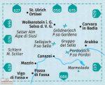 616. Gröden-Sella turista térkép Kompass 1:25 000