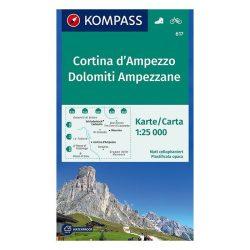 617. Cortina d Ampezzo turista térkép Kompass 1:25 000