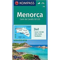 243. Menorca turista térkép Kompass