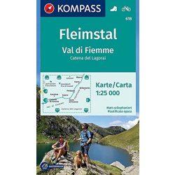 618. Val di Fiumme Fleimstal turista térkép Kompass 1:25 000