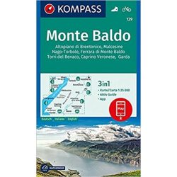 129. Monte Baldo turista térkép Kompass 1:25 000, D/I
