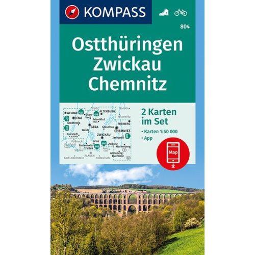 chemnitz térkép 804. Ostthüringen, Zwickau, Chemnitz térkép 1:50 000 Kelet