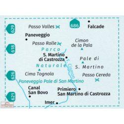 622. Pale di San Martino turista térkép Kompass 1:25 000