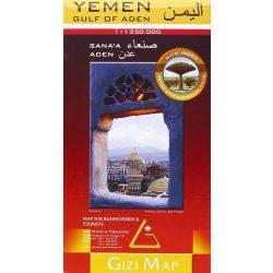 Jemen térkép Gizi Map 1:1 250 000