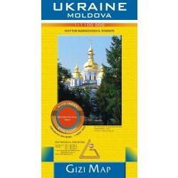 Ukrajna térkép Gizi Map 1:1 200 000