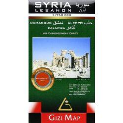 Szíria térkép Gizi Map  1:750 000