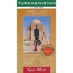 Türkmenisztán térkép Gizi Map 1:1 300 000