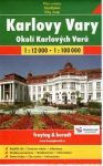 Karlovy Vary és környéke térkép Freytag 1:12 000,1:100 000