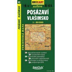 SC 43. Posazavi, Vlasimsko turista térkép Shocart 1:50 000