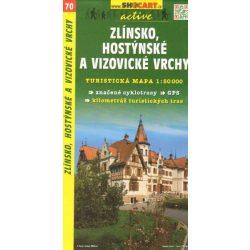 SC 70. Zlinsko, Host, a Vizov vrchy turista térkép Shocart 1:50 000