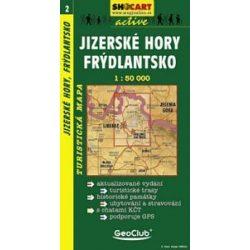 SC 2. Jizerske hory, Frydlantsko turista térkép Shocart 1:50 000