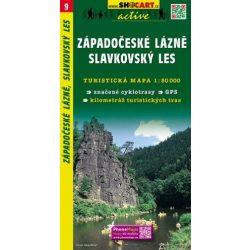 SC 9. Zapadoceske laze, Slavkovsky les turista térkép Shocart 1:50 000
