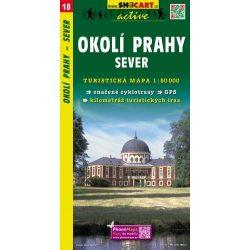 SC 18. Okoli Prahy, sever turista térkép Shocart 1:50 000