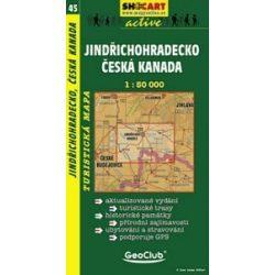 SC 45. Jindrichohradecko, Ceska Kanada, Jindrichuv Hradec turista térkép Shocart 1:50 000