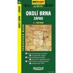 SC 51. Okoli Brna, zapad turista térkép Shocart 1:50 000