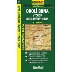 SC 52. Okoli Brna, vychod, Moravsky kras turista térkép Shocart 1:50 000