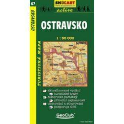 SC 67. Ostravsko, Ostrava turista térkép Shocart 1:50 000