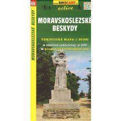 SC 69. Moravskoslezske Beskydy, Moravia. Ostrava SE turista térkép Shocart 1:50 000