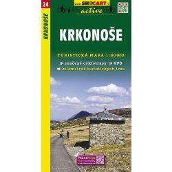 SC 24. Krkonose, Liberec to Trutnov turista térkép Shocart 1:50 000 Szász Svájc, Cseh Svájc térkép