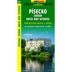SC 37. Pisecko, Zvikov. Orlik. n.Vlt turista térkép Shocart 1:50 000