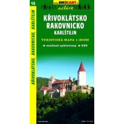 SC 16. Krivoklatsko, Rakovnicko, Karlstejn Prague west turista térkép Shocart 1:50 000