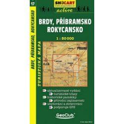 SC 17. Brdy, Pfibramsko, Rokycansko turista térkép Shocart 1:50 000
