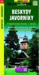 SC 71. Beskydy Javorniky, Vsetin turista térkép Shocart 1:50 000
