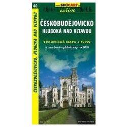 SC 40. Cesko Budejovicko, Hluboka nad Vltavou Ceske Budejovice turista térkép Shocart 1:50 000