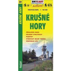 SC 201. Krusné Hory turista térkép Shocart 1:100 000