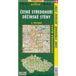 SC 3. Ceske stredohori, Decinske steny turista térkép Shocart 1:50 000  2011 CSEH-KÖZÉPHEGYSÉG TURISTATÉRKÉP