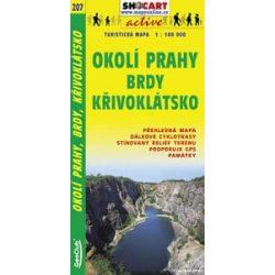 SC 207. Prága környéke, Okoli Prahy Brdy Krivoklátsko turista térkép Shocart 1:100 000