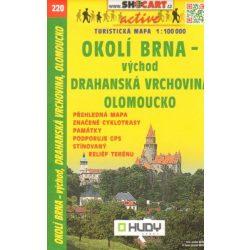 SC 220. Brno környéke, Okolí Brna vychod Olomoucko turista térkép Shocart 1:100 000