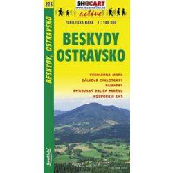 SC 223. Beskydy Ostravsko turista térkép Shocart 1:100 000