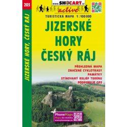 SC 203. Jizerské hory térkép, Cesky Ray, Cseh Paradicsom turistatérkép  1:40 000