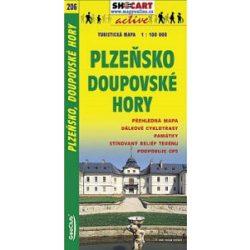 SC 206. Plzensko Doupovské Hory turista térkép Shocart 1:100 000