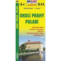 SC 208. Prága környéke, Okoli Prahy Polabi turista térkép Shocart 1:100 000