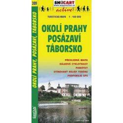 SC 209. Prága környéke, Okoli Prahy Posázavi Táborsko turista térkép Shocart 1:100 000
