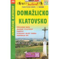 SC 212. Domazlicko Klatovsko turista térkép Shocart 1:100 000