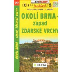 SC 217. Brno környéke, Okolí Brna Západ turista térkép Shocart 1:100 000