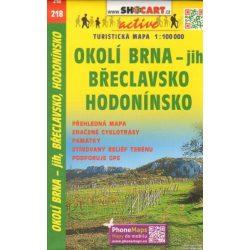 SC 218. Znojemsko Breclavsko turista térkép Shocart 1:100 000