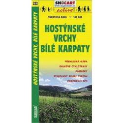 SC 222. Hostynské Vrchy Bílé Karpaty turista térkép Shocart 1:100 000