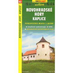 SC 42. Novohradske hory, Kaplice turista térkép Shocart 1:50 000