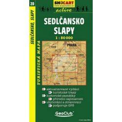 SC 20. Sedlansko, Slapy turista térkép Shocart 1:50 000