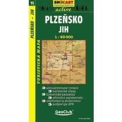 SC 15. Plzensko, jih turista térkép Shocart 1:50 000