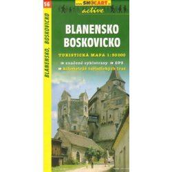 SC 56. Blanensko, Boskovicko turista térkép Shocart 1:50 000