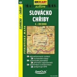SC 63. Slovacko, Chriby turista térkép Shocart 1:50 000