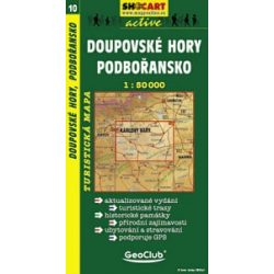SC 10. Doupovske hory, Podboransko turista térkép Shocart 1:50 000