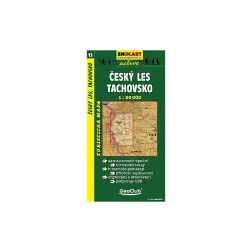SC 13. Cesky les, Tachovsko turista térkép Shocart 1:50 000